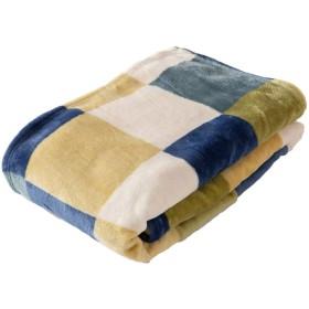 アイリスプラザ 毛布 セミダブル ブランケット プレミアムマイクロファイバー 洗える 静電気防止 とろけるような肌触り fondan 品質保証書付 チェックグリーン 160×200cm
