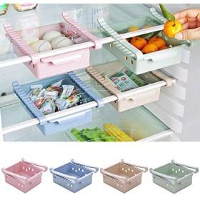新しいキッチン用品収納棚冷蔵庫引き出し棚板層