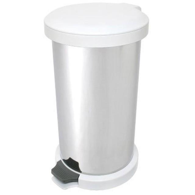 アドフィールド ゴミ箱 吸着密閉 ペダル式 ステンレス 無臭(ムッシュ) 18L ホワイト