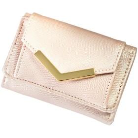 [GISELLE] 小さい財布 レディース 三つ折り 花柄 無地 カード入れ 小銭入れ付き 薄型 コンパクト ミニウォレット