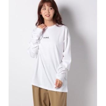 (X-girl/エックスガール)MILLS LOGO L/S TEE/レディース ホワイト 送料無料