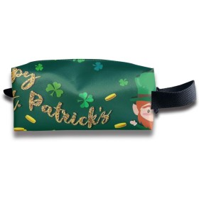 ハッピーセントパトリックデー 化粧ポーチ メイクポーチ ミニ 財布 機能的 大容量 アイシャドー 化粧品収納 小物入れ 普段使い 出張 旅行 メイク ブラシ バッグ ポータブル 化粧バッグ