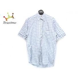 ダンヒル dunhill/ALFREDDUNHILL 長袖シャツ サイズS メンズ ブルー×黒×アイボリー チェック柄 新着 20190910