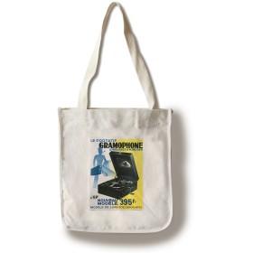Le Portatif Gramophoneヴィンテージポスターフランス Canvas Tote Bag LANT-59337-TT