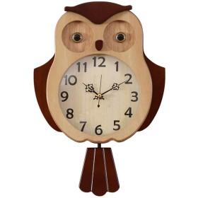 壁掛け時計電池式非カチカチ子供部屋装飾用リビングルームクリエイティブサイレントクロックキッズアナログ漫画鳥子寝室クォーツ