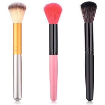 BOBIDYEE 3ピース化粧ブラシツール化粧ブラシウールファンデーションブラシフェイスメイク赤面ブラシナイロン化粧品ブラシ (色 : 3-Piece)