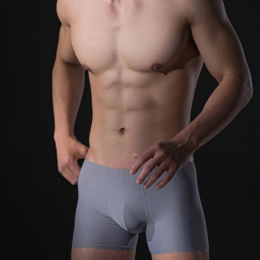 外銷日本原單精品.冰絲涼感.無痕四角內褲