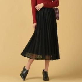 クイーンズコート(QUEENS COURT)/【WEB別注】スクエアシアーチェックロングプリーツスカート