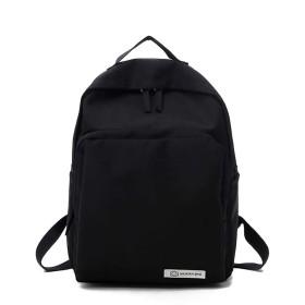 女性のバックパック刺繍入り防水盗難防止カジュアルショルダーバッグ (色 : Black)
