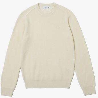 カシミヤブレンドソリッドニットセーター