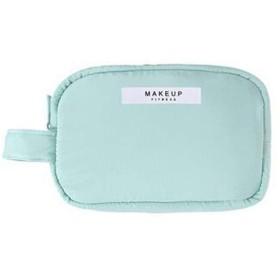 ミニトラベルプロフェッショナルメイクアップバッグ、ポータブル化粧品収納ボックス、シンプルなソリッドカラーレディーキャリングクラッチ - ピンク (Color : Blue)