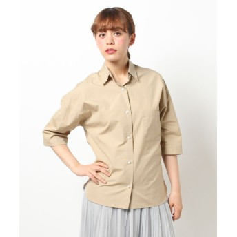 【50%OFF】 アルアバイル タイプライタービッグシャツ レディース ベージュ系 02 【allureville】 【セール開催中】