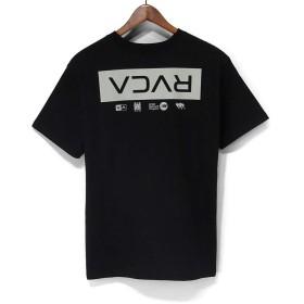 ルーカ(RVCA)半袖 Tシャツ AJ042-208 RVCA TOKYO SS Tシャツ S/ST-Shirts RVCA WORLD TOUR TOKYO (LIGHT GREY×BLACK, L)