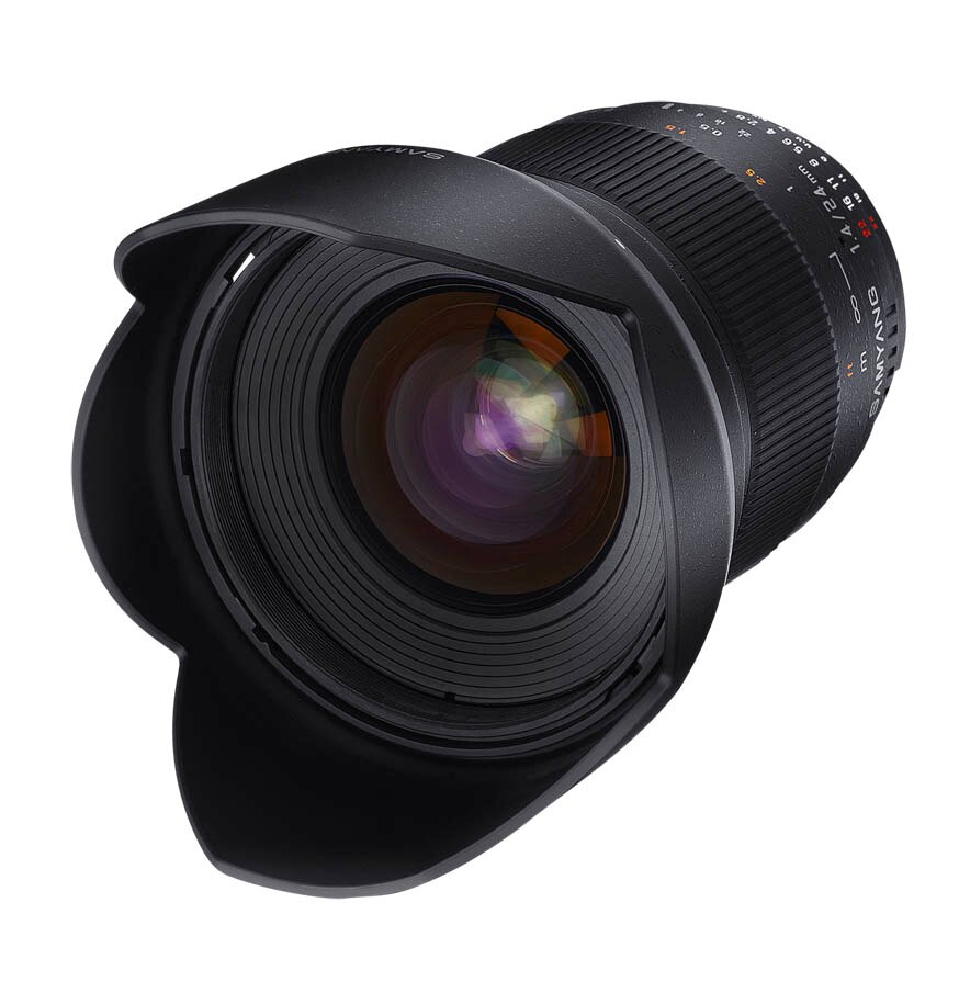 Samyang鏡頭專賣店:24mm/F1.4 ED ASPH UMC廣角 for Canon EOS(5D 5D2 5D3 6D 7D 1D4)(保固二個月)