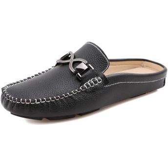 [インボラ] ローファー メンズ 革靴 ビジネスシューズ 紳士靴 スリッパ カジュアルシューズ フォーマル オシャレ 通勤 旅行 通気 防滑 便利 室内/室外履き グレー 0CBB35 26.0cm