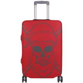 スーツケースカバー サンタクロース 赤い 伸縮素材 保護カバー 紛失キズ 保護 汚れ 卒業旅行 旅行用品 トランクカバー 洗える ファスナー 荷物ケースカバー 個性的
