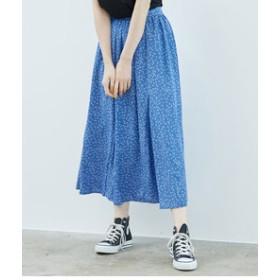 【ROPE' PICNIC:スカート】幾何柄サーキュラースカート