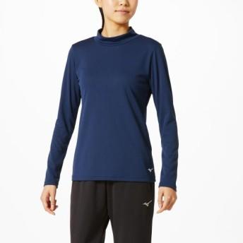 MIZUNO SHOP [ミズノ公式オンラインショップ] ブレスサーモハイネックシャツ[レディース] 14 ドレスネイビー 32MA9851