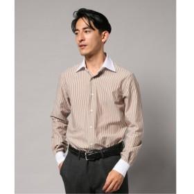 [マルイ] メンズシャツ(セミワイド クレリックベージュストライプ)/エディフィス(EDIFICE)