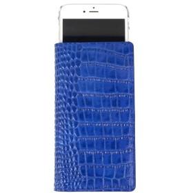 GAZE 多機種対応スライド式 手帳型ケース Vivid Croco Diary Lサイズ コバルトブルー