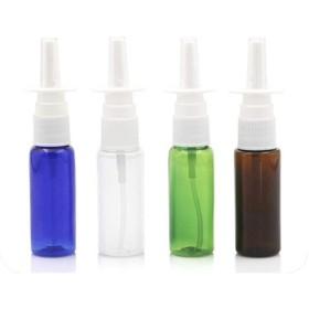 2PCS 5月10日/ 20分の15/60ミリリットルペットボトル空プラスチック鼻スプレーボトルポンプスプレーミスト鼻詰め替えボトル、10ミリリットルスプレー、グリーン