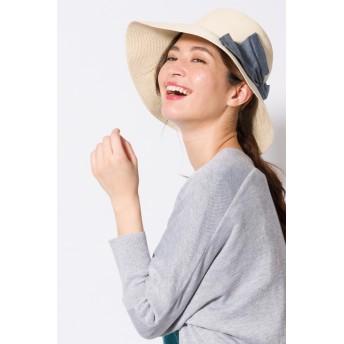 帽子全般 - ikka ビックリボンキャペリンハット