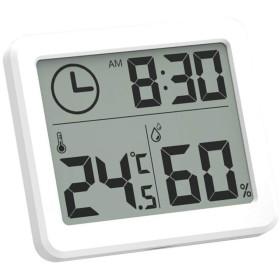 デジタル温湿度計 室内 温度計 湿度計 FidgetFidget 高精度 最高最低温湿度表示 LCD大画面温湿度計 置き掛け両用タイプ 健康管理 熱中症 操作簡単 小型
