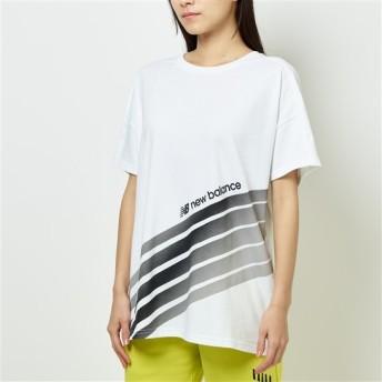 (NB公式)【ログイン購入で最大8%ポイント還元】 ウイメンズ スポーツスタイルオプティクスTシャツ (ホワイト) ライフスタイル ウェア / トップス ニューバランス newbalance