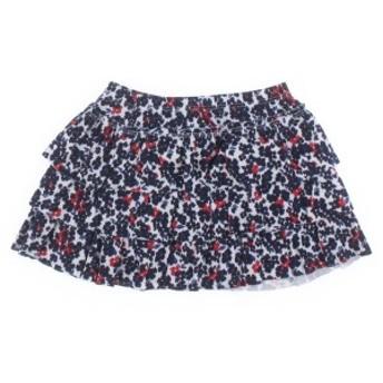 PETIT BATEAU / プチバトー キッズ スカート 色:白x紺x赤等(花柄) サイズ:110