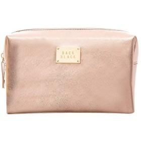 化粧ポーチ メイクポーチ ミニ 財布 機能的 大容量 化粧品収納 小物入れ 普段使い 出張 旅行 メイク ブラシ バッグ 化粧バッグ (バラ色)