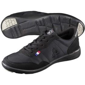 レディースシューズ スニーカー ルコック lecoqsportif セギュール 3 ワイド ローカット 定番 女性用 スポーティ カジュアル 薄底 軽量 婦人靴/QL3NJC05 (23.5cm, (BK)ブラック)