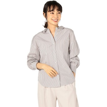 (ノーリーズ) NOLLEY'S パール釦2wayシャツ 9-0035-5-01-008 36 ブラウンベージュ系3