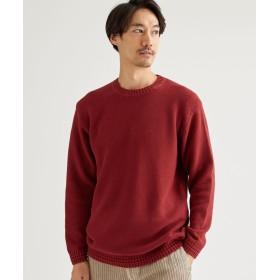グリーンレーベルリラクシング SC ウォッシュドカノコ クルーネック メンズ RED L 【green label relaxing】
