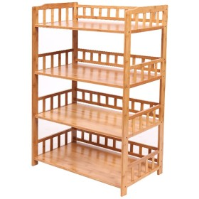 RG- キッチン用棚貯蔵用ポット棚電子レンジ用シェルフオーブン用フレームフレーム4階建て多層4階建て木製(利用可能な60/70/80  114.5  38 cm) (サイズ さいず : 80cm)