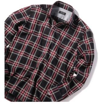メンズビギ レオパードジャカードタータンチェックシャツ メンズ ブラック系その他 M 【Men's Bigi】