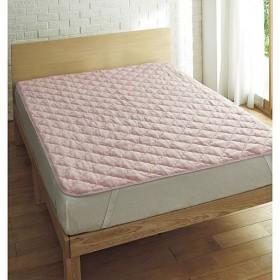 綿スマートヒートパッドシーツ - セシール ■カラー:ピンク ソフトブラウン ライトグレー ■サイズ:セミダブル(120×205cm),ダブル(140×205cm)