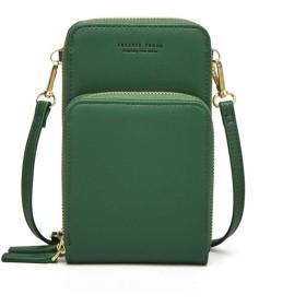 YHSUNN 女性レザーミニクロスボディショルダーバッグ大容量電話ポーチレディース財布ジッパーメッセンジャーバッグ