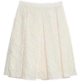 《セール開催中》BLUGIRL BLUMARINE レディース ひざ丈スカート アイボリー 40 ポリエステル 60% / コットン 38% / ナイロン 2%