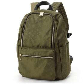 バッグ カバン 鞄 レディース リュック 多収納で通勤にも便利♪9ポケット星柄リュックサック カラー 「カーキ」