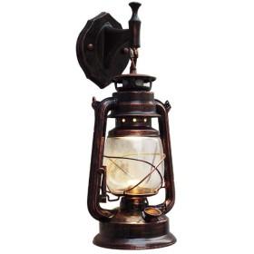 レトロクラシック灯油ランタンアンティーク壁ライト錬鉄ヴィンテージ工業用レッド/イエロー/ブラックブロンズウォールランプ