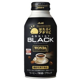 アサヒ飲料 「『ワンダ』はたらくアタマに/アシスト」ブラック ボトル缶400g×24本