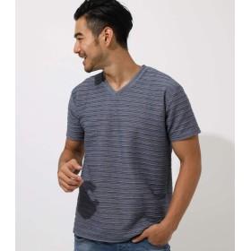 [アズールバイマウジー] tシャツ ボーダー SLAB TACK BORDER T-SHIRT メンズ 251CAM80-211F M ダークネイビー