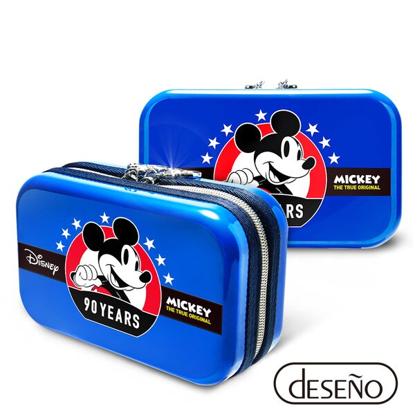 【加賀皮件】Deseno Disney 迪士尼 米奇系列 90週年 限量 紀念 手拿包 收納盥洗包 化妝包 航空硬殼包 201 米奇藍