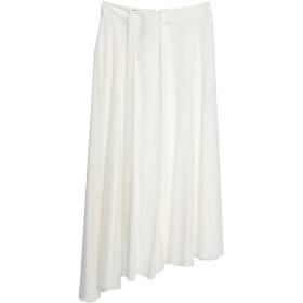《期間限定セール開催中!》EMPORIO ARMANI レディース 7分丈スカート ホワイト 42 コットン 52% / シルク 48%