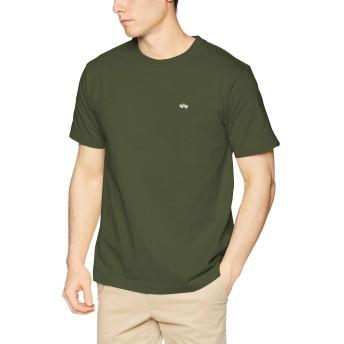 [アルファ インダストリーズ] Tシャツ 【公式】半袖 ワンカラーブラッドチット メンズ TC1350-01 ARMY GREEN 日本 M (日本サイズM相当)