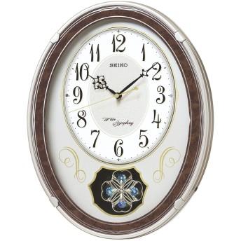 セイコー クロック 掛け時計 電波 アナログ トリプルセレクション メロディ 飾り振り子 薄金色 パール AM259B SEIKO