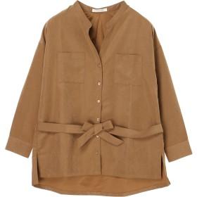【6,000円(税込)以上のお買物で全国送料無料。】ダブルポケットシャツブラウス