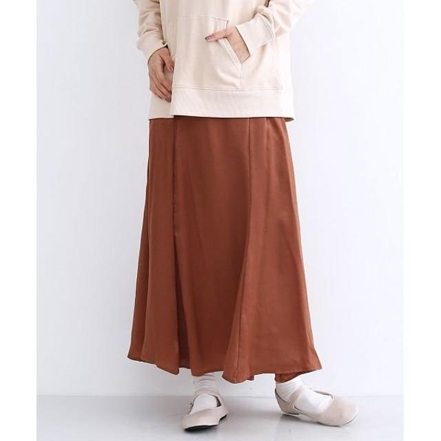 【10%OFF】 メルロー マーメイドサテンスカート レディース ブラウン FREE 【merlot】 【セール開催中】