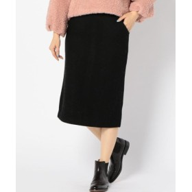 (SHIPS OUTLET/シップス アウトレット)【SHIPS for women】(3744)WCO: RIB JERSY TIGHT SK/レディース ブラック
