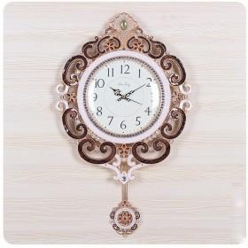 家の装飾時計 メタルカラースウィングシークレットでサロンインダストリアル内部創造牧歌モードウォールクロッククォーツレトロクロックウォールクロックの壁時計 (Color : #1)